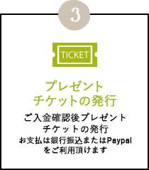 プレゼントチケットの発行